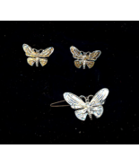FREE WITH PURCHASE~Vintage Butterfly Earrings And Barrette - $0.00
