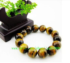 Free Shipping -  Natural tiger eyes gemstone beaded bracelet , Prayer Be... - $25.99