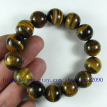 Free Shipping -  good luck Natural tiger eyes gemstone beaded bracelet ,... - $25.99
