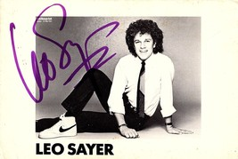 LEO SAYER AUTOGRAPHED Hand SIGNED 4x6 PHOTO English- born Singer-Songwriter - $14.99