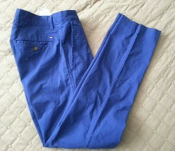 Tommy Hilfiger Men Size 30W 30L blue chinos cotton pants 30x30 - $35.89