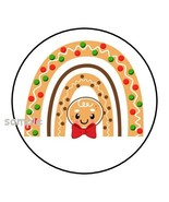 """30 CHRISTMAS RAINBOW ENVELOPE SEALS LABELS STICKERS 1.5"""" ROUND GINGERBRE... - $4.99"""
