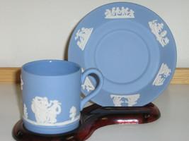 Vintage Wedgwood Jasperware Cup & Saucer - 1950s - Greek Scenes - $22.00