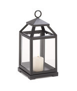 Black Contemporary Candle Lantern - £21.80 GBP