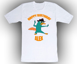 Personalized Phineas & Ferb Perry the Platypus T Shirt - $14.99