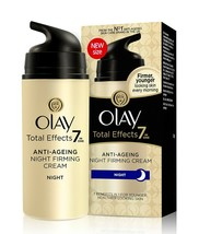 3 X Olay Total Effects 7-In-1 Anti Ageing Night Firming Skin Cream, 20gm - $36.14