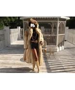 Mint Oscar de la Renta Full Length Coyote Fur coat S-M - $1,583.99