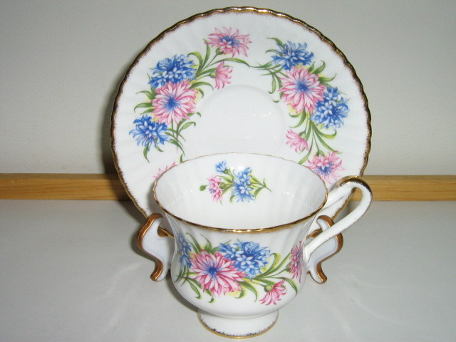 Vintage Paragon English Bone China Cup & Saucer, 1950s / 1960s, Pattern #F54E