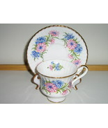 Vintage Paragon English Bone China Cup & Saucer, 1950s / 1960s, Pattern ... - $20.00