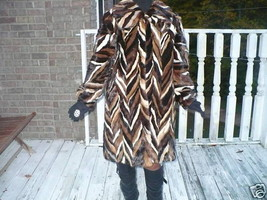 Designer Swing Sable hue multicolor Mink Fur coat jacket + Free hat S-L ... - $1,599.99