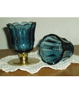 Home Interiors Dark Blue Sconce Votive Cups Homco - $9.99