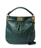 NWT MARC JACOBS Classic Q Hillier Leather Hobo Shoulder Bag GREEN $460 A... - $398.00