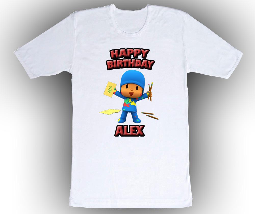 Personalized custom pocoyo birthday t shirt gift 2 t shirts for Unique custom t shirts