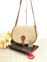Rare Vintage Coach Saddle Bag Spectator Cream/Tan Leather - Style 9851, ... - $118.79
