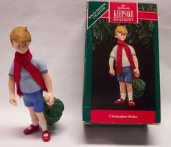"Hallmark Keepsake Disney Winnie the Pooh CHRISTOPHER ROBIN 4"" CHRISTMAS ... - $24.74"