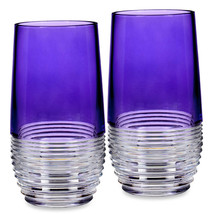 Waterford Crystal Mixology Highball Glasses Circon Purple 2 Piece #16282... - $191.90