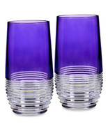 Waterford Crystal Mixology Highball Glasses Circon Purple 2 Piece #162829 New - $191.90