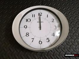 Big Ben Chrome Round Silver White Wall Office Home Clock 9168 Quartz 11x... - $98.99