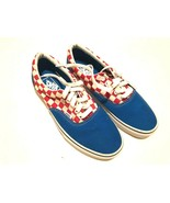 Vans Off The Wall Blue Red Checker Canvas Low Top Skateboard Sneaker Men... - $59.39