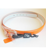 Ladies 2XL Orange Belt by Newbosi Made of Genuine Leather for Plus Size ... - $14.95