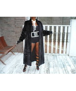 New Swing Adolfo Full length Mink Fur Coat Jacket S-M - $2,474.99