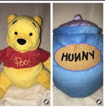 Disney Parks World Winnie the Pooh & Hunny Pot Flips Pillow Plush Stuffe... - $17.50