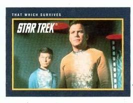 Star Trek card #213 That Which Survives Dr Bones and Captain Kirk - $3.00