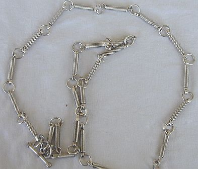Newage silver necklace