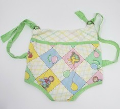 VINTAGE CABBAGE PATCH KIDS 1983 FABRIC DOLL CARRIER FRONT WEARING W/ STRAPS - $18.70