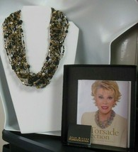 Joan Rivers Torsade Collection Black & Crystal Multi-strand Bead Necklace - $49.75