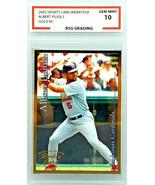 GRADED 10! ALBERT PUJOLS ROOKIE 2001 SPORTS CARD INVESTOR MAGAZINE GOLD ... - $199.95