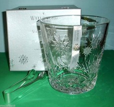 Waterford Snowflake Wish Crystal Ice Bucket & Tongs Wishes For Joy 1st Edit. New - $239.90