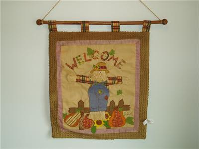 Home Interior Fall Welcome Wall Hanging Homco