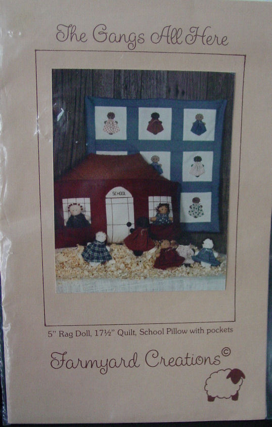 "Pattern The Gang's All Here - 5"" Rag Doll & Mini Quilt - $4.00"
