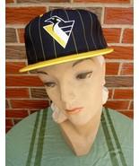 Vintage '90s Pittsburgh Penguins Hat Adjustable Unisex New w/Official NH... - $22.75