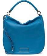 MARC JACOBS TOO HOT TO HANDLE ITALIAN LEATHER AQUAMARINE SHOULDER BAGNWT! - $249.99