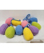 QUEENWEST TRADING CO EASTER FABRIC COLORFUL EGG GARLAND DECOR 6FT - $24.99