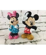 Disney Classic Character Bath Toys Rubber Mickey Minnie Mouse - $14.84