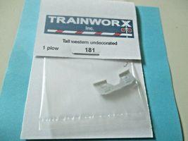 Trainworx Stock #181 Snowplow Tall Western Undecorated N-Scale image 3