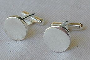 Primary image for  silver round cufflinks