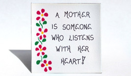 Magnet for Mother - Quote about mom, pink cascading flowers - $3.95