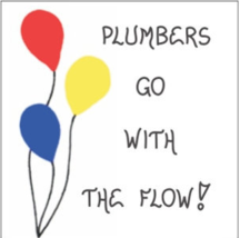 Plumber Magnet - Humorous plumbing quote - Red, Yellow, Blue Balloons - $3.95