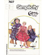 SIMPLICITY 7627 PATTERN GIRLS CINDERELLA SKIRT BLOUSE SZ. 12 - $5.00