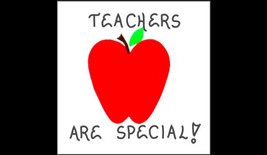 Teacher Magnet  Quote, teaching, red apple design - $3.95