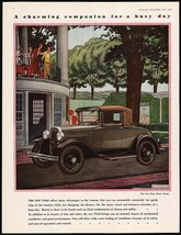 Vintage magazine ad FORD from 1930 picturing The New Ford Sport Coupe automobile - $12.99