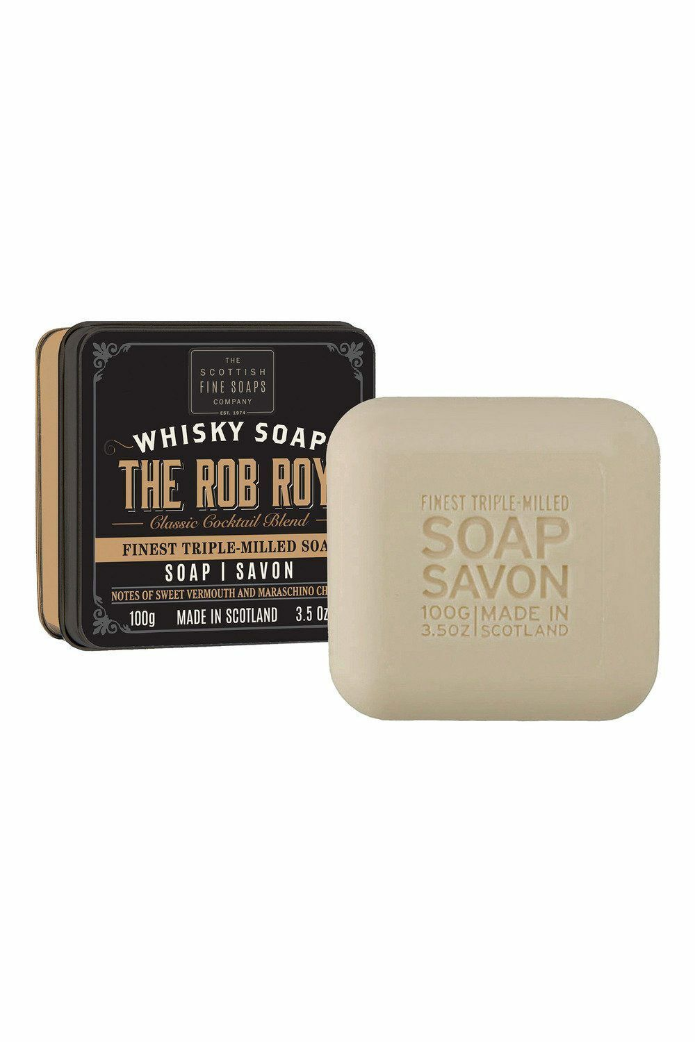 Scottish Fine Soaps Men's Grooming The Rob Roy 100g, Imported from U.K.