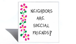 Neighbor Gift Magnet, Quote, special friends, people next door, neighborhood, or - $3.95