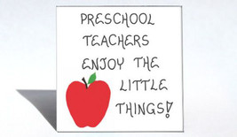 Magnet Quote, Preschool teacher, Pre-K, nursery school educators, red apple desi - $3.95