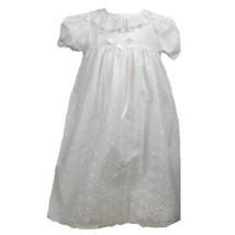 Precious Sweet Petit Ami Lined Cotton Eyelet Christening Ruffle Dress Ha... - $38.99