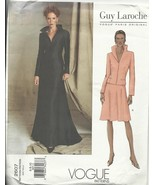 Vogue Pattern 2607 Guy Laroche Paris 6 8 10 Jacket Skirt formal Dress we... - $14.77